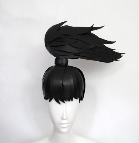 about art and design - paper wigs