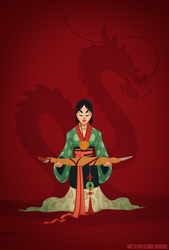 Mulan in ancient Han Dinasty (China 386-589)