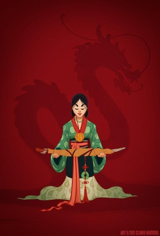 Mulan in ancient Han Dinasty (China 386-589)
