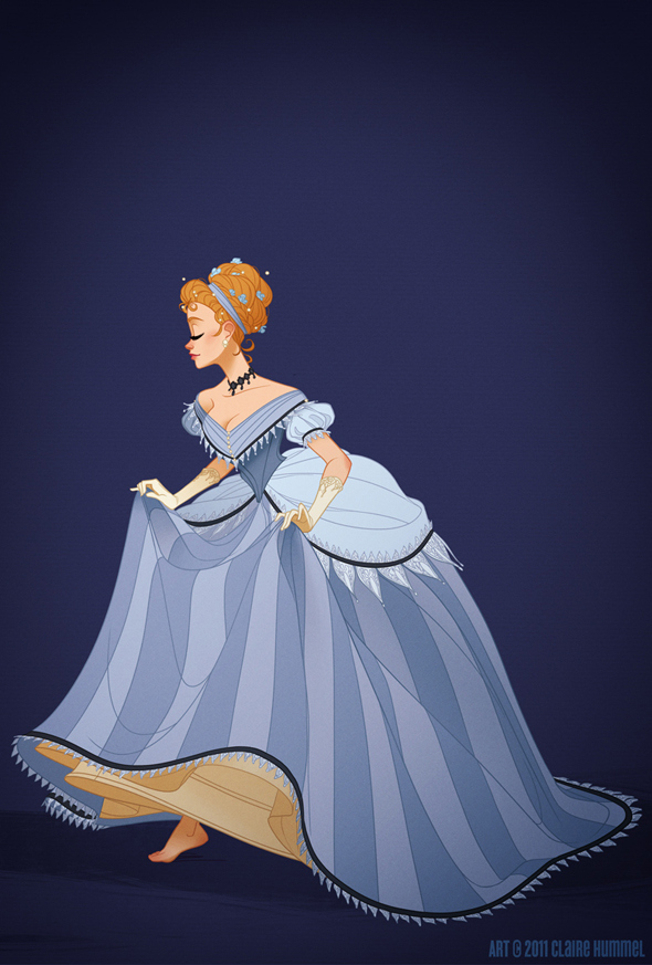Cinderellas Dress Is Based In The Mid 1860s
