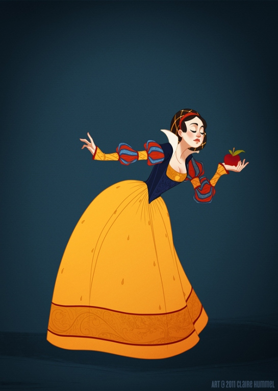 Snow White on 16th century German clothing<br /><p class=