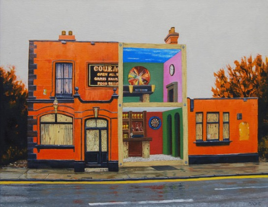 Pub 1_A pub called courage_52x42cm_mackie_£2400