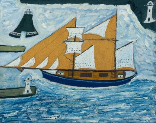 The Blue Ship ?c.1934 by Alfred Wallis 1855-1942